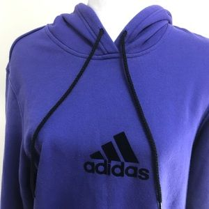 Adidas hoodie size large purple/black logo